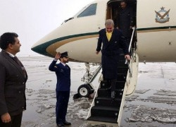 QURESHI ARRIVES IN TEHRAN ON FIRST LEG OF MIDDLE EAST PEACE MISSION