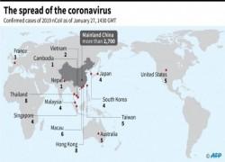 CHINA'S CORONAVIRUS SPREADS TO 12 COUNTRIES