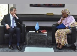 QURESHI MEETS UN OFFICIAL, STRESSES NEED FOR EARLY RESOLUTION OF KASHMIR ISSUE