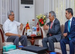FINANCE MINISTER OF AFGHANISTAN HOLDS TALKS WITH PRESIDENT RAJAPAKSA