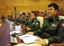 Angry exchange between military MP, speaker mars first day of Myanmar charter debate