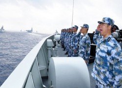 China's naval fleet delivers loud message to US