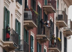 ITALIANS SING OUT FROM BALCONIES DURING CORONAVIRUS LOCKDOWN