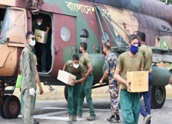 Bangladesh army flies in relief to families in remote hilly areas