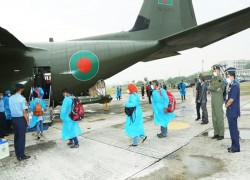 BAF's C-130J aircraft transported Maldivians to their own country