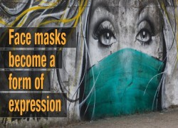 Face masks become a form of expression