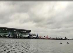 Cyclone Amphan leaves Kolkata airport flooded