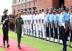 Myanmar military chief, Indian defense minister talk border security, insurgency