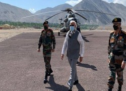 PM MODI VISITS LEH WEEKS AFTER VIOLENT FACE-OFF BETWEEN INDIA-CHINA IN GALWAN
