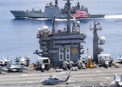 US carrier conducts drills with India near key chokepoint Malacca
