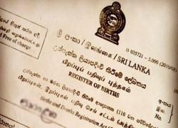 FUTURE BIRTH CERTIFICATES TO BE ONLY 'SRI LANKAN'