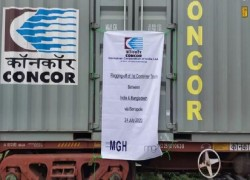 FIRST CARGO TRAIN LAUNCHED TO BANGLADESH VIA INDIA BORDER ZONE