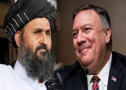 Pompeo, Taliban's Baradar discuss Afghan peace process