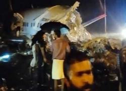 কেরালায় নামার সময় উড়োজাহাজ দু'টুকরো