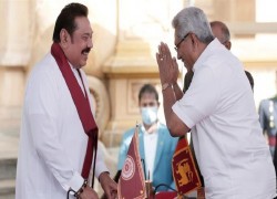 MAHINDA RAJAPAKSA SWORN IN AS SRI LANKA'S PM AFTER RECORD VICTORY