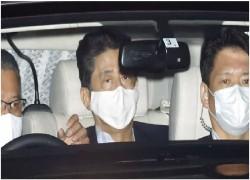 PRIME MINISTER SHINZO ABE LEAVES TOKYO HOSPITAL
