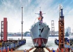 China launches advanced warship for Pakistan Navy