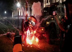 TWO DEAD AS GUNFIRE ERUPTS AT WISCONSIN PROTESTS