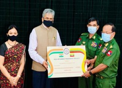 US$ 5 MILLION PROVIDED TO THE GOVERNMENT OF MYANMAR FOR INDIA-MYANMAR BORDER AREA DEVELOPMENT