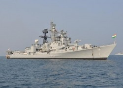 BIENNIAL BILATERAL MARITIME EXERCISE BETWEEN INDIAN NAVY AND RUSSIAN NAVY UNDERWAY AT BAY OF BENGAL