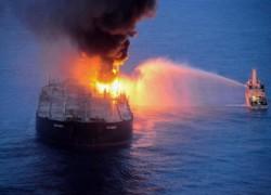 Fresh fire hits stricken Indian oil supertanker off Sri Lanka