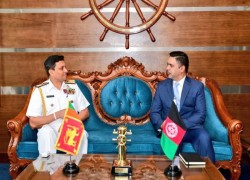 AFGHANISTAN AND SRI LANKA DISCUSS PARTNERING AGAINST THREATS OF TERRORISM