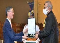 বিদায়ী চীনা রাষ্ট্রদূত হিলাল-ই-পাকিস্তান পদকে ভূষিত