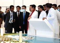 Sri Lankan PM visits Chinese-built Colombo port