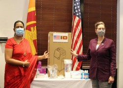 US DONATES LOCALLY PRODUCED PPE TO SRI LANKA
