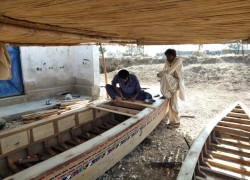 Pakistan's centuries-old boat village faces dual threat