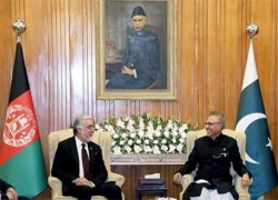 ABDULLAH MEETS PAKISTANI PRESIDENT, DISCUSSES AFGHAN PEACE