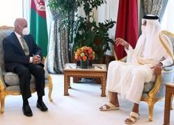 QATAR'S EMIR, AFGHAN PRESIDENT DISCUSS PEACE, MUTUAL TIES