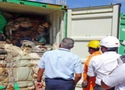 SRI LANKA SEEKS COMPENSATION FOR GARBAGE FROM UK
