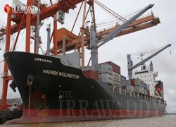 Shipping giant to stop using Myanmar's military-owned port
