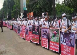 Rakhine protests in Dhaka against Myanmar 'massacre'