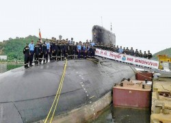 With an eye on China, India hands over submarine to Myanmar