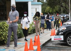 Early voting in US presidential election setting records and favouring Democrats