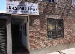 AUTHORITIES SEAL OFFICE OF 'KASHMIR TIMES' IN SRINAGAR