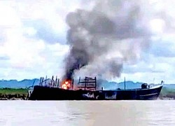 1 killed, 3 hurt as Myanmar Navy sinks boat carrying ICRC relief goods in Rakhine state