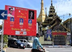 Myanmar's Suu Kyi projects 'pro-economy image' before election