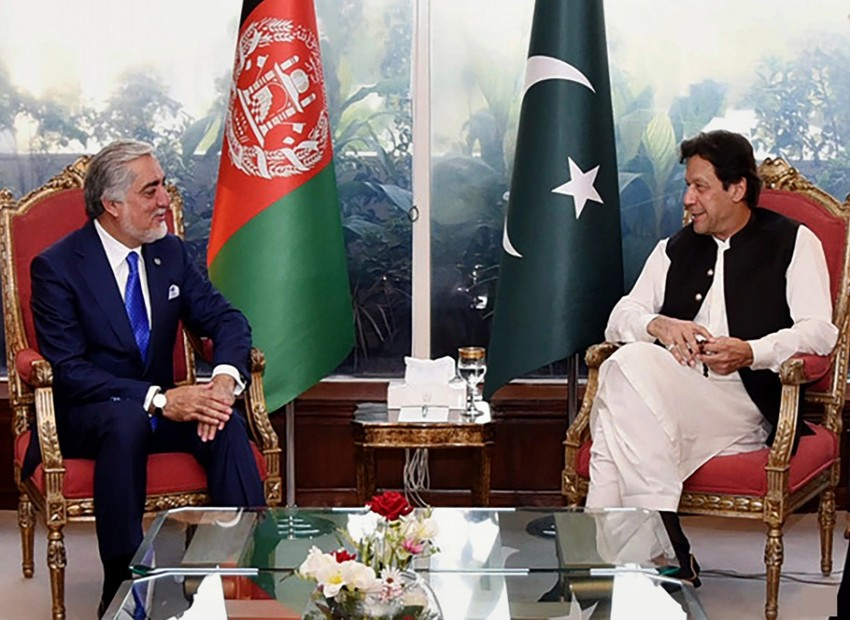 Why Abdullah Abdullah visited Pakistan and India?