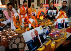 PRAYERS FOR KAMALA HARRIS IN ANCESTRAL INDIAN VILLAGE, FOR TRUMP IN DELHI