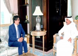 AMBASSADOR DISCUSS RECRUITING MORE BANGLADESHI WORKERS WITH FOREIGN SECRETARY OF QATAR