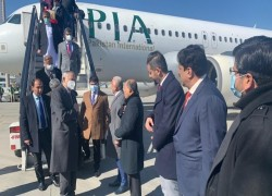 PM IMRAN LANDS IN KABUL FOR MAIDEN AFGHANISTAN VISIT