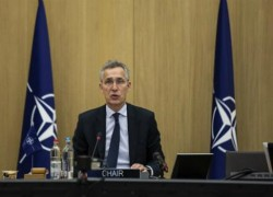 NATO CHIEF REITERATES CALL FOR AFGHAN CEASEFIRE