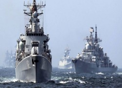 Why is Russia participating in the AMAN-2021 naval drills?