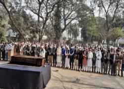 প্রেস ক্লাবে সাংবাদিক মিজানুর রহমানের জানাজা অনুষ্ঠিত