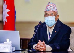 Dahal is second-ranked chairman of NCP, says Oli to EC