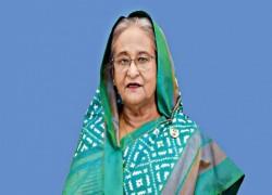 BANGLADESH PM SHEIKH HASINA GREETS JOE BIDEN