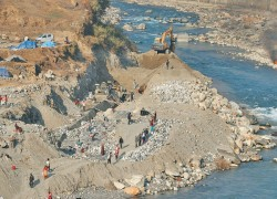 India continues to build embankment despite objections from Nepali authorities